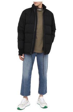 Мужская хлопковый лонгслив HERON PRESTON хаки цвета, арт. HMAB017F20JER0015501 | Фото 2