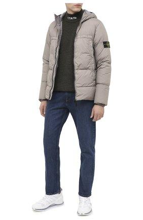 Мужской шерстяной свитер HERON PRESTON хаки цвета, арт. HMHF001F20KNI0015500 | Фото 2