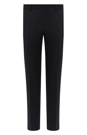 Мужской шерстяные брюки BOSS темно-синего цвета, арт. 50438227   Фото 1