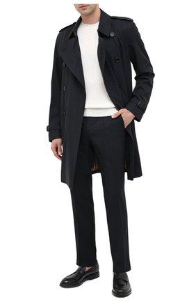 Мужской шерстяные брюки BOSS темно-синего цвета, арт. 50438227   Фото 2