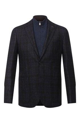 Мужской шерстяной пиджак CORNELIANI темно-синего цвета, арт. 86X528-0816318/90 | Фото 1