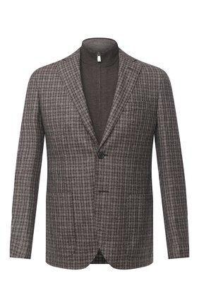 Мужской шерстяной пиджак CORNELIANI коричневого цвета, арт. 86X528-0816318/90 | Фото 1