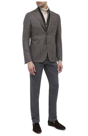 Мужской шерстяной пиджак CORNELIANI коричневого цвета, арт. 86X528-0816318/90 | Фото 2
