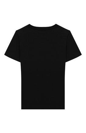 Детская хлопковая футболка VERSACE черного цвета, арт. YC000438/YA00019/4A-6A | Фото 2