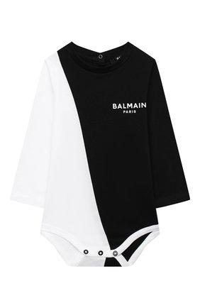 Детское комплект из двух боди BALMAIN черно-белого цвета, арт. 6N0920/NX290/12-36M | Фото 5