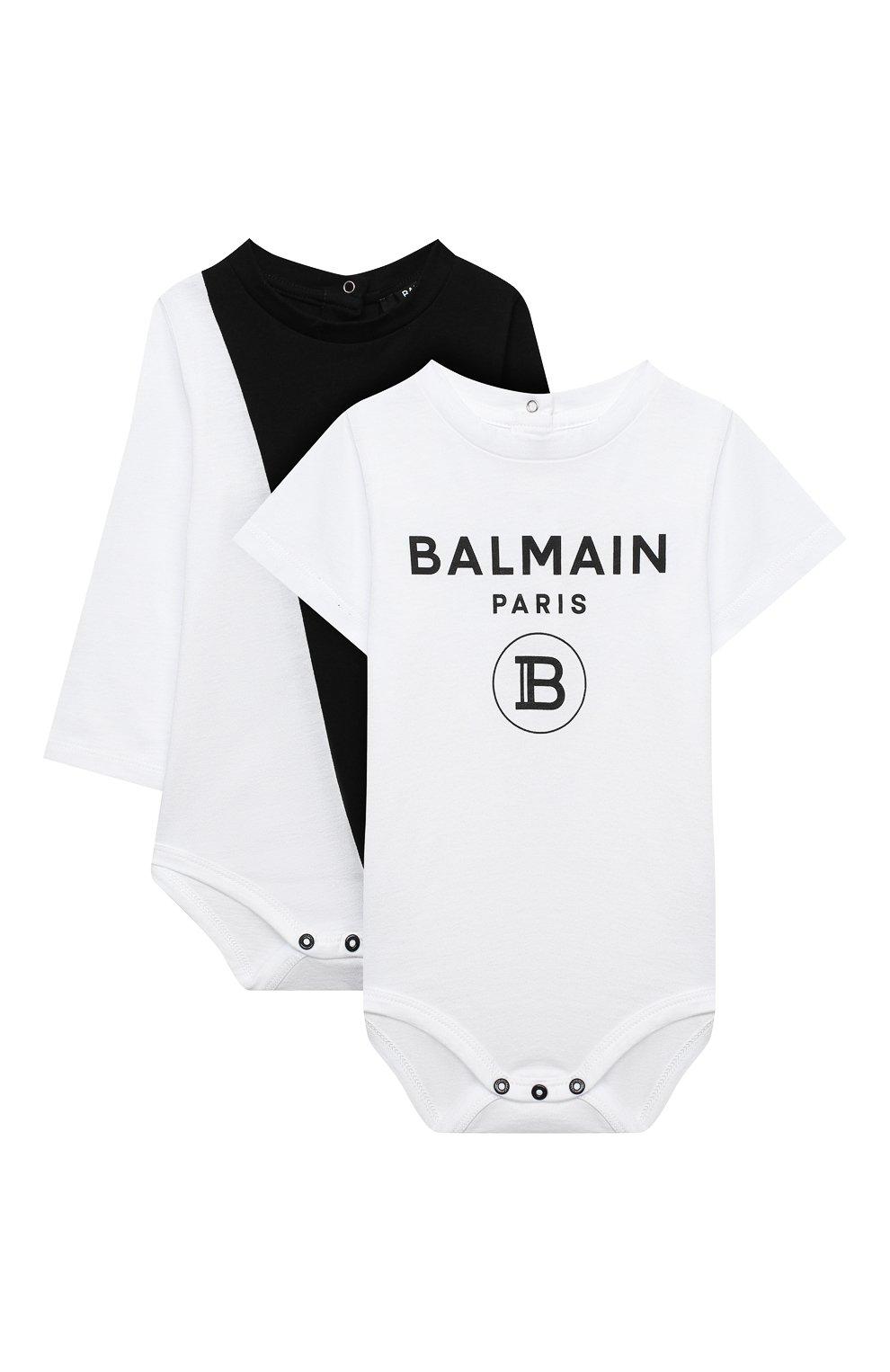 Детское комплект из двух боди BALMAIN черно-белого цвета, арт. 6N0920/NX290/3-9M | Фото 1