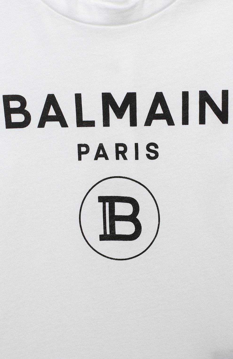 Детское комплект из двух боди BALMAIN черно-белого цвета, арт. 6N0920/NX290/3-9M | Фото 4