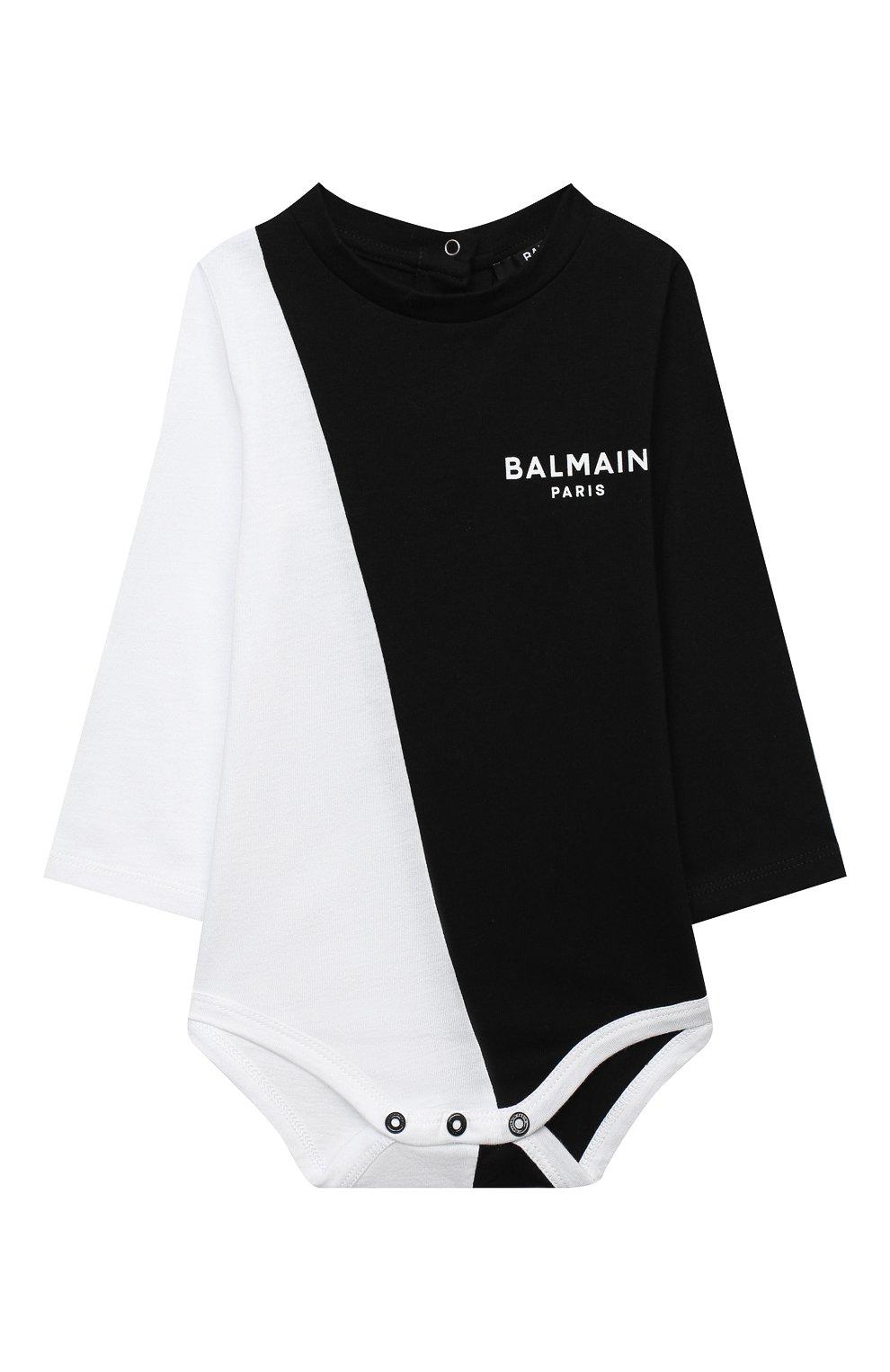 Детское комплект из двух боди BALMAIN черно-белого цвета, арт. 6N0920/NX290/3-9M | Фото 5