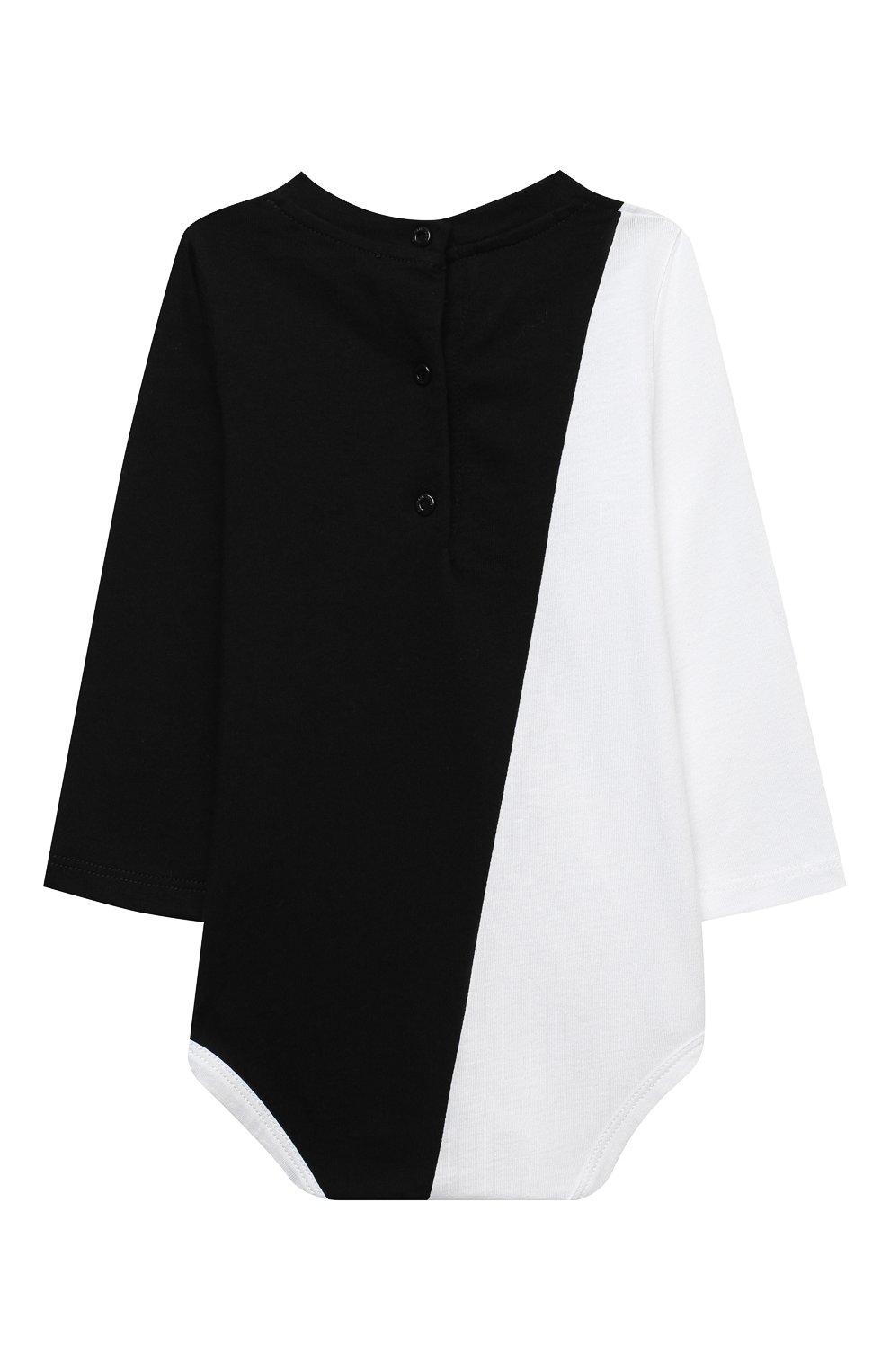 Детское комплект из двух боди BALMAIN черно-белого цвета, арт. 6N0920/NX290/3-9M | Фото 6