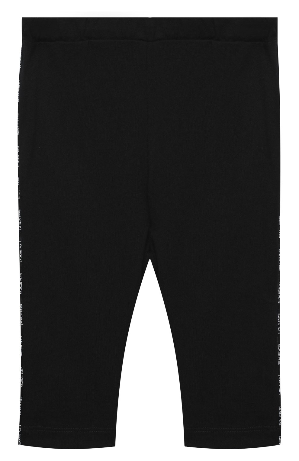 Детские хлопковые брюки BALMAIN черного цвета, арт. 6N6330/NX290/3-9M   Фото 1
