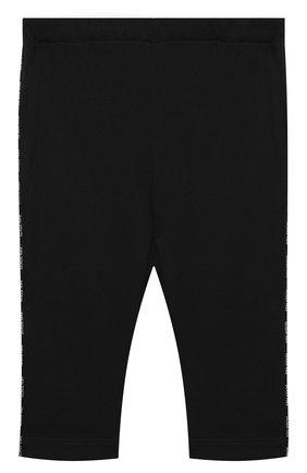 Детские хлопковые брюки BALMAIN черного цвета, арт. 6N6330/NX290/3-9M | Фото 1