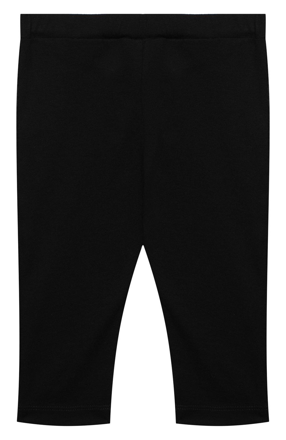Детские хлопковые брюки BALMAIN черного цвета, арт. 6N6330/NX290/3-9M   Фото 2