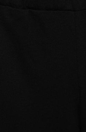 Детские хлопковые брюки BALMAIN черного цвета, арт. 6N6330/NX290/3-9M   Фото 3