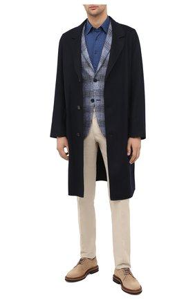 Мужской кашемировое пальто LORO PIANA темно-синего цвета, арт. FAL2605 | Фото 2