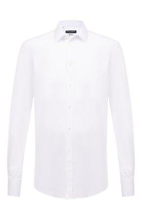 Мужская хлопковая сорочка DOLCE & GABBANA белого цвета, арт. G5EJ0T/FUEEE | Фото 1