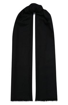 Мужской шарф из шелка и кашемира BRIONI черного цвета, арт. 03UG00/0943J | Фото 1