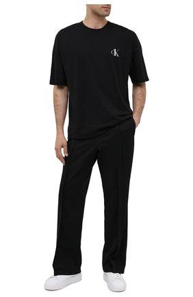 Мужские хлопковая футболка CALVIN KLEIN черного цвета, арт. NM1793E | Фото 2