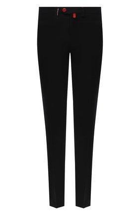 Мужские брюки из шерсти и кашемира KITON черного цвета, арт. UFPP79K02T04   Фото 1