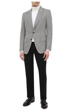 Мужские брюки из шерсти и кашемира KITON черного цвета, арт. UFPP79K02T04   Фото 2