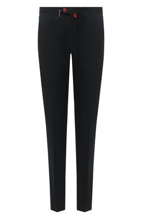Мужской брюки из шерсти и кашемира KITON темно-зеленого цвета, арт. UFPP79K02T04 | Фото 1