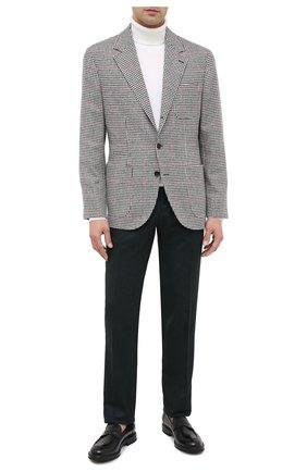 Мужской брюки из шерсти и кашемира KITON темно-зеленого цвета, арт. UFPP79K02T04 | Фото 2
