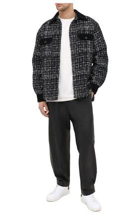 Мужская куртка DOLCE & GABBANA черно-белого цвета, арт. G5HX0T/FMMFS | Фото 2