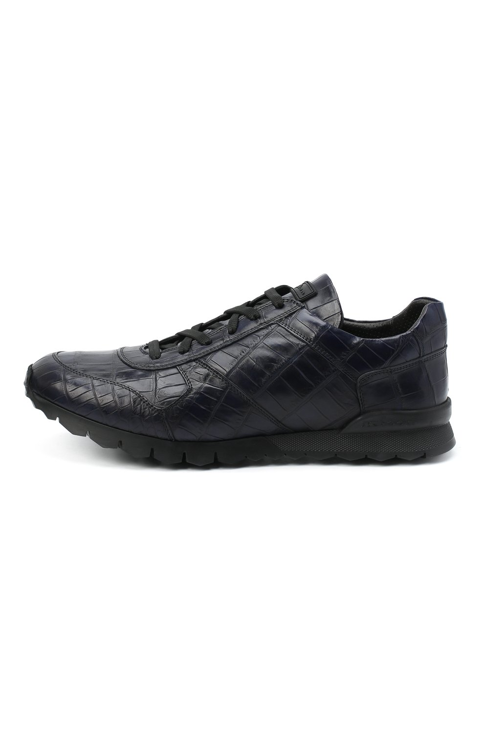 Мужские кроссовки из кожи аллигатора KITON синего цвета, арт. USSVLAZN00102/CNIL | Фото 3