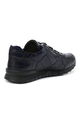 Мужские кроссовки из кожи аллигатора KITON синего цвета, арт. USSVLAZN00102/CNIL | Фото 4