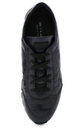 Мужские кроссовки из кожи аллигатора KITON синего цвета, арт. USSVLAZN00102/CNIL | Фото 5