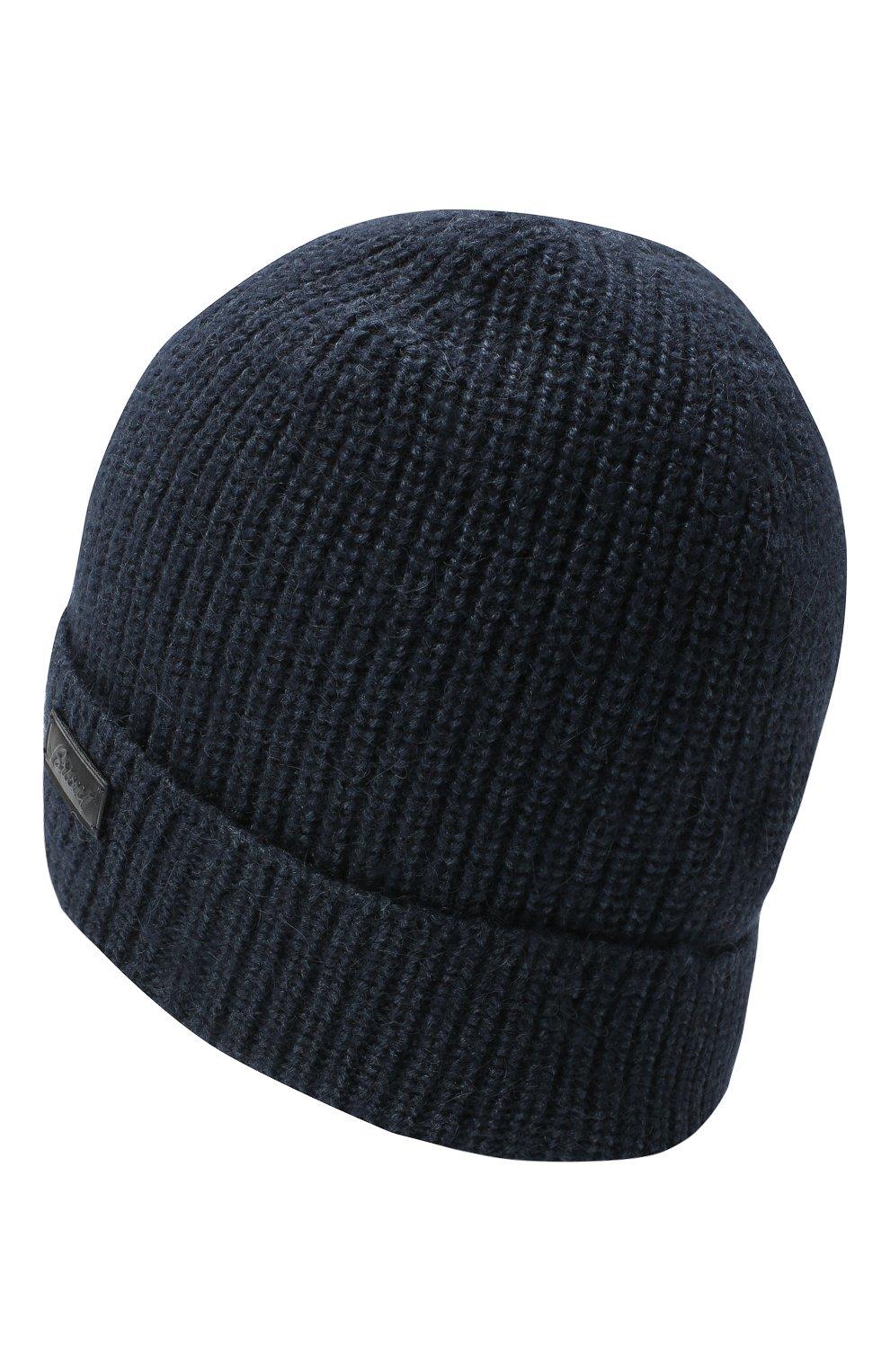 Мужская шапка из шерсти и шелка BRIONI синего цвета, арт. 04M80L/09K32 | Фото 2