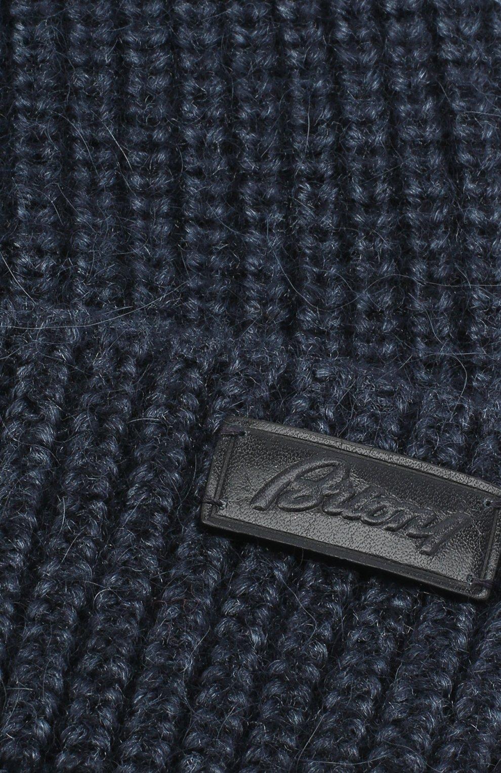 Мужская шапка из шерсти и шелка BRIONI синего цвета, арт. 04M80L/09K32 | Фото 3