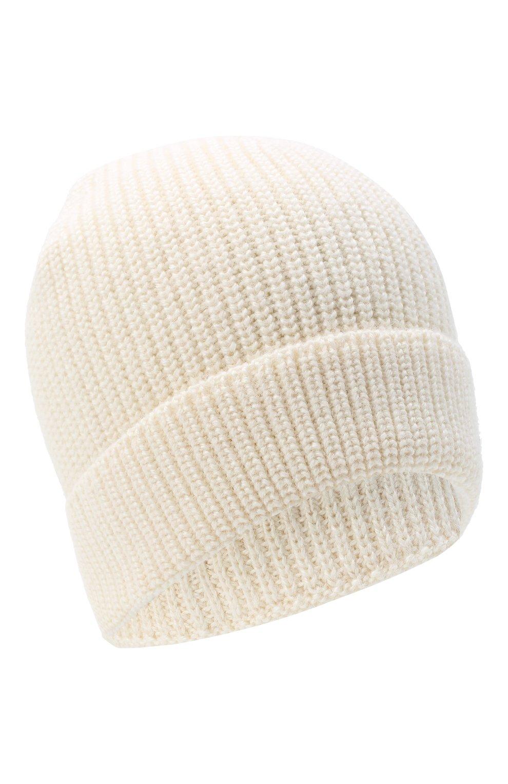 Мужская шапка из шерсти и шелка BRIONI белого цвета, арт. 04M80L/09K32   Фото 1