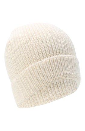 Мужская шапка из шерсти и шелка BRIONI белого цвета, арт. 04M80L/09K32 | Фото 1