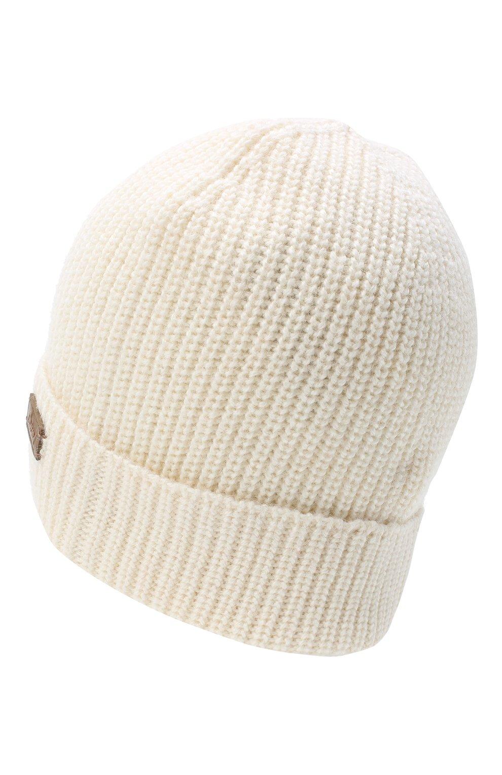 Мужская шапка из шерсти и шелка BRIONI белого цвета, арт. 04M80L/09K32   Фото 2