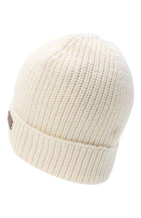Мужская шапка из шерсти и шелка BRIONI белого цвета, арт. 04M80L/09K32 | Фото 2
