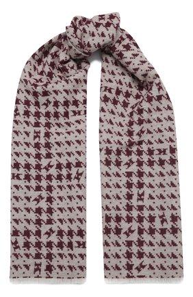 Мужской шарф из шерсти и кашемира KITON бордового цвета, арт. USCIACX02T27 | Фото 1