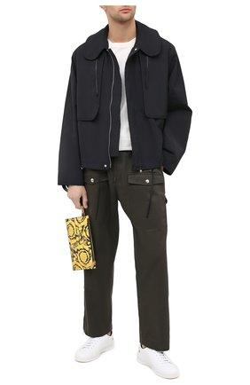 Мужская кожаный клатч VERSACE желтого цвета, арт. DP84725/DVTS26   Фото 2