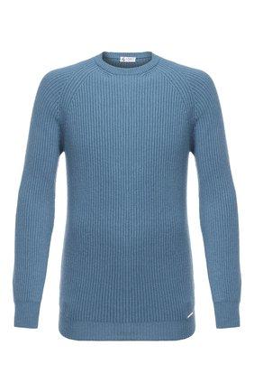 Мужской кашемировый свитер IL BORGO CASHMERE голубого цвета, арт. 54-663G0   Фото 1