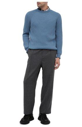 Мужской кашемировый свитер IL BORGO CASHMERE голубого цвета, арт. 54-663G0   Фото 2