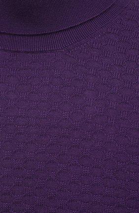 Мужской водолазка из кашемира и шелка IL BORGO CASHMERE фиолетового цвета, арт. 56-532-01G0   Фото 6