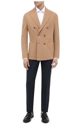 Мужской шерстяные брюки CORNELIANI темно-синего цвета, арт. 864L08-0817236/00 | Фото 2