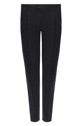Мужской шерстяные брюки CORNELIANI темно-серого цвета, арт. 864L08-0817236/00 | Фото 1