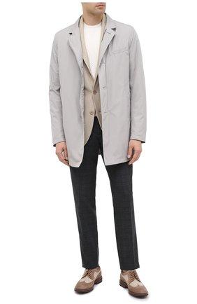 Мужской шерстяные брюки CORNELIANI темно-серого цвета, арт. 864L08-0817236/00 | Фото 2