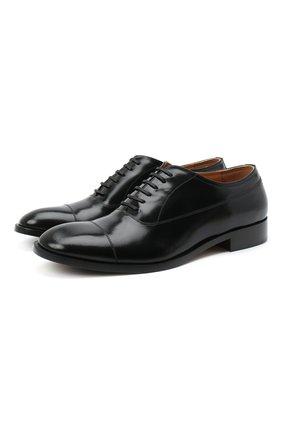 Мужские кожаные оксфорды MAISON MARGIELA черного цвета, арт. S37WQ0320/P3716 | Фото 1
