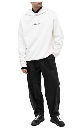 Мужские кожаные кеды replica MAISON MARGIELA черного цвета, арт. S57WS0354/P3169 | Фото 2