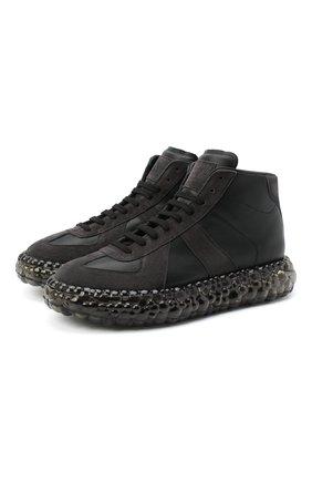 Мужские кожаные кроссовки replica MAISON MARGIELA черного цвета, арт. S57WS0357/P1895 | Фото 1