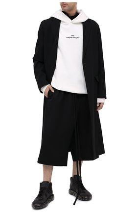 Мужские кожаные кроссовки replica MAISON MARGIELA черного цвета, арт. S57WS0357/P1895 | Фото 2