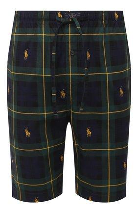 Мужские хлопковые домашние шорты POLO RALPH LAUREN темно-зеленого цвета, арт. 714730612 | Фото 1