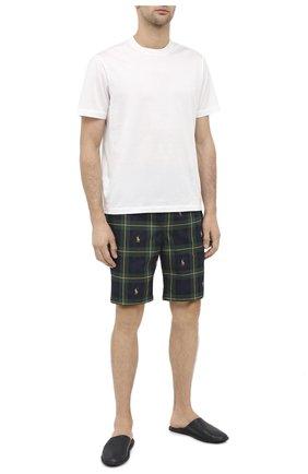Мужские хлопковые домашние шорты POLO RALPH LAUREN темно-зеленого цвета, арт. 714730612 | Фото 2