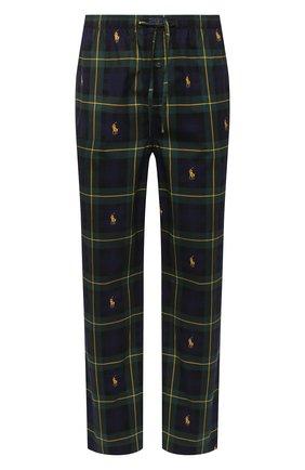 Мужские хлопковые домашние брюки POLO RALPH LAUREN темно-зеленого цвета, арт. 714730610 | Фото 1